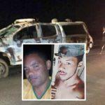 Irecê : Pai e filho morrem em acidente entre moto e viatura da CIPE na BA-052