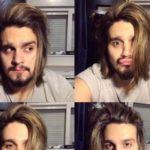 Luan Santana mostra cabelo longo e recebe críticas nas redes sociais: 'Corta essa juba'