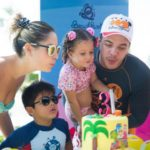 Wesley Safadão comemora aniversário da filha Ysis em parque de Fortaleza